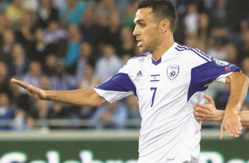Israel midfielder Eran Zahavi is looking forward to the challenge of facing Spain and Italy in 2018 World Cup qualifying (photo credit: ERAN LUF)