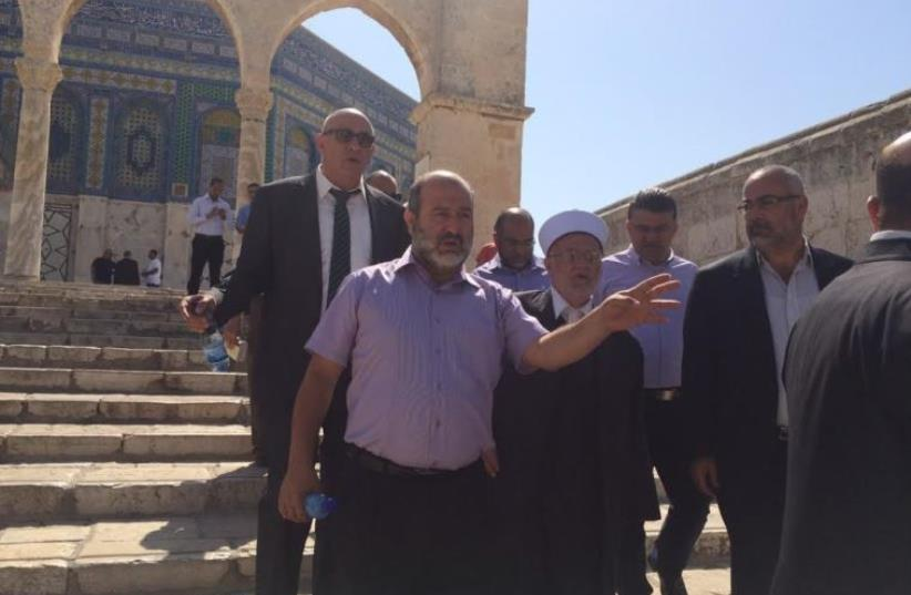 Joint list mks on Temple Mount  (photo credit: JOINT LIST)