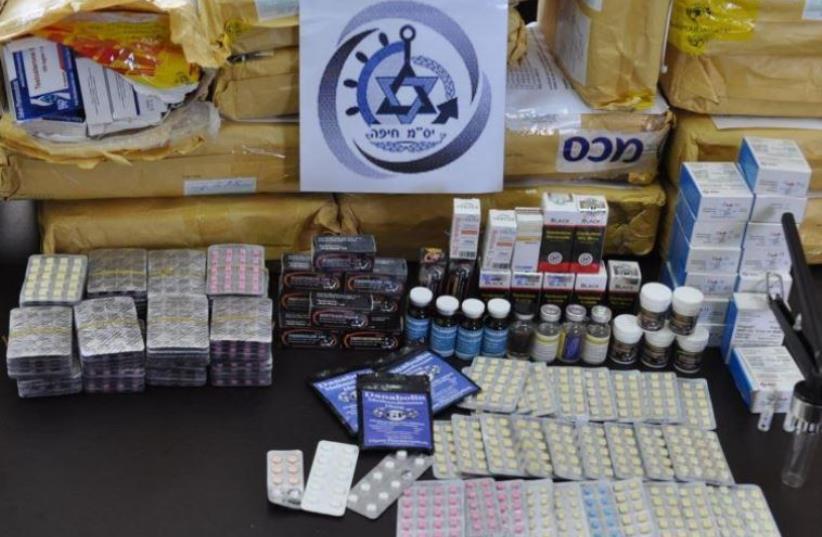 Illegal anabolic steroids  (photo credit: COURTESY HAIFA CUSTOMS OFFICE)