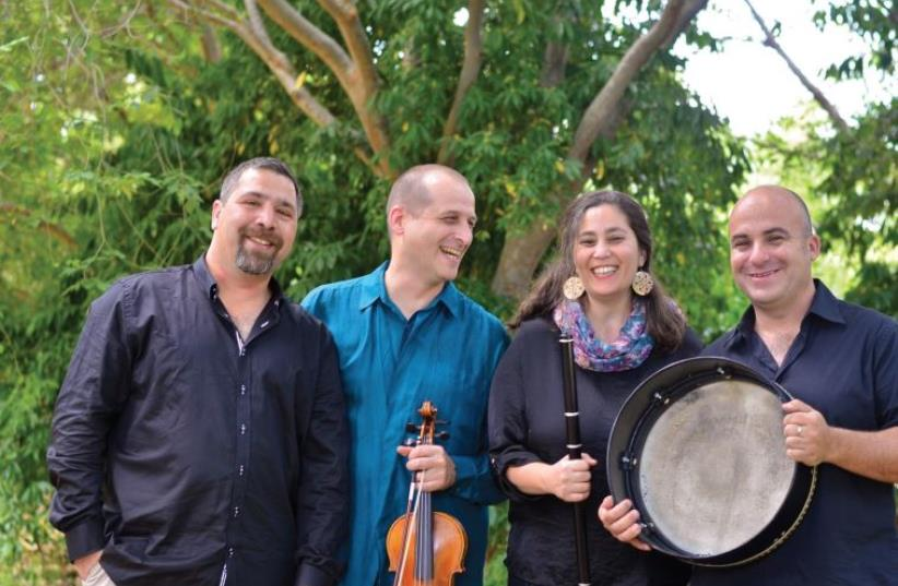 Evergreen fiddler Gal Shachar (second from left) seen here with the rest of the quartet. (photo credit: ELI EFRAIMOV)