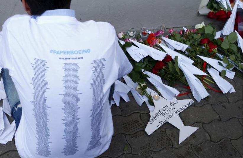 Malaysian airline memorial (photo credit: REUTERS)