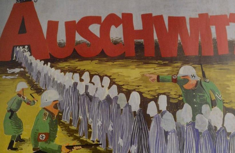 Artwork by Holocaust survivor Joseph Bau. (photo credit: MAGALI DRUSCOVICH)