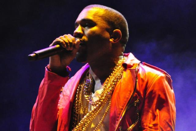 Kanye West performing at Lollapalooza