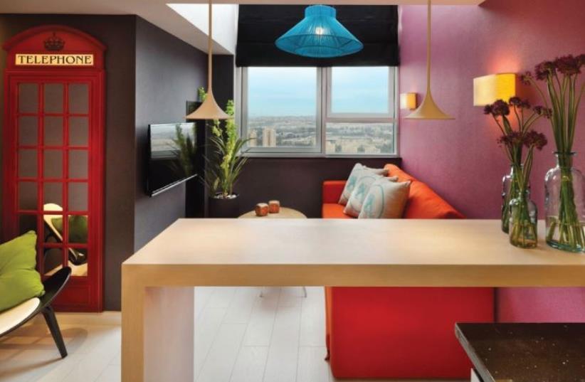 Interior design at the 360 Suitop Hotel (photo credit: PR)