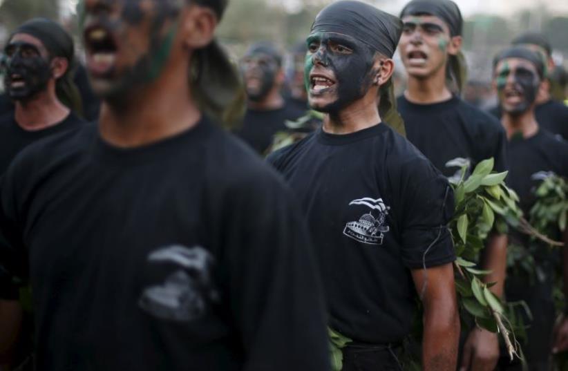 Hamas military summer camp (photo credit: REUTERS)