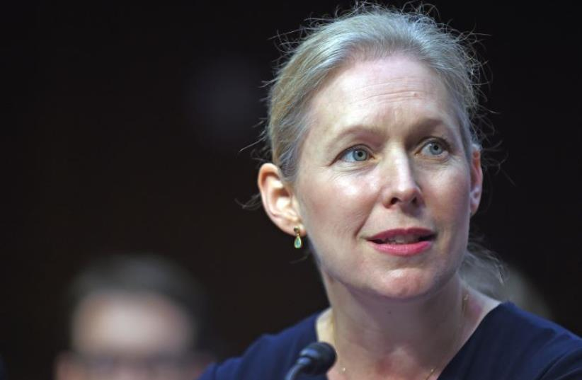 Kirsten Gillibrand (photo credit: ASTRID RIECKEN / GETTY IMAGES NORTH AMERICA / AFP)