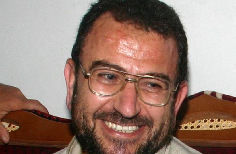Hamas leader Saleh al-Arouri (photo credit: JAMAL ARURI / AFP)