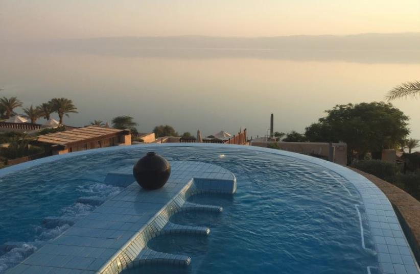 A VIEW of the Dead Sea from the Zara Spa pool (photo credit: SETH J. FRANTZMAN)