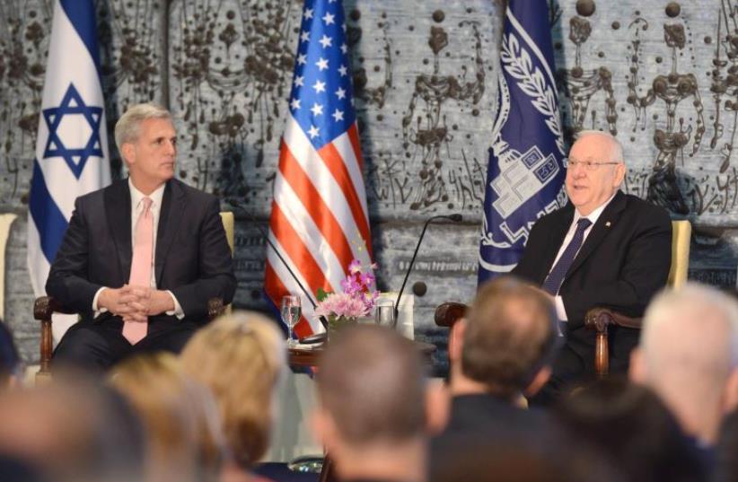 President Reuven Rivlin meets congressional delegation (photo credit: Mark Neiman/GPO)