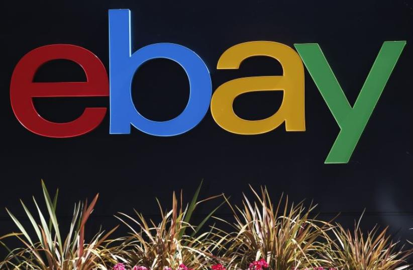 The eBay sign (photo credit: REUTERS)