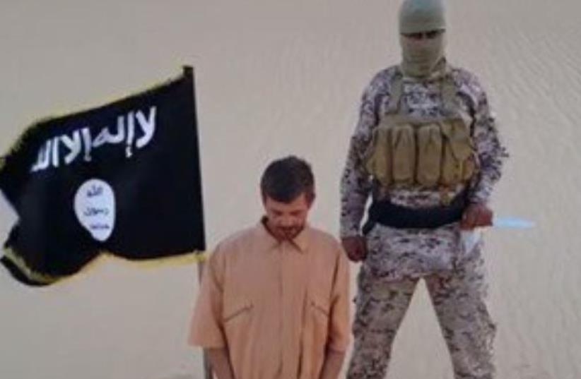Croatian hostage in Sinai (photo credit: ISLAMIC SOCIAL MEDIA)