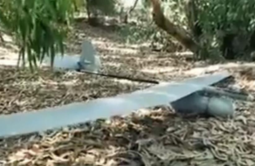 Reconstucted Israeli drone according to Hamas  (photo credit: screenshot)