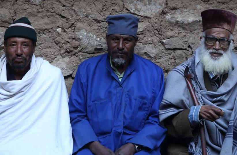 Elders of theBeta Israel community of North Shewa, Ethiopia  (photo credit: Courtesy)