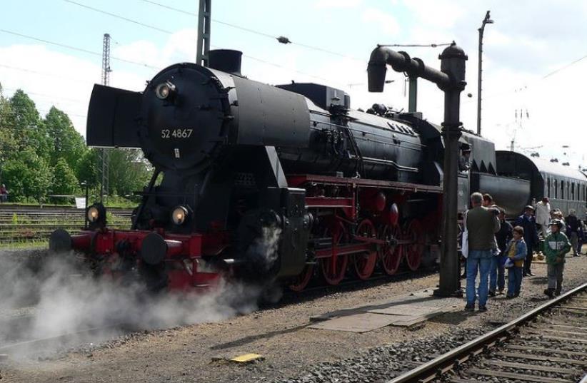Steam locomotive german class 52 (file) (photo credit: HANS-PETER SCHOLZ/WIKIMEDIA COMMONS)