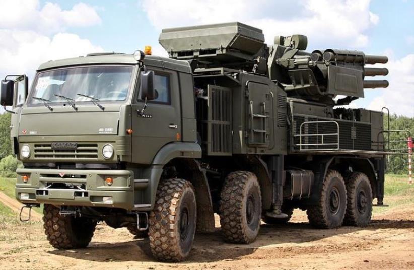 SA-22 Air Defense System (photo credit: VITALY V. KUZMIN/WIKIMEDIA COMMONS)
