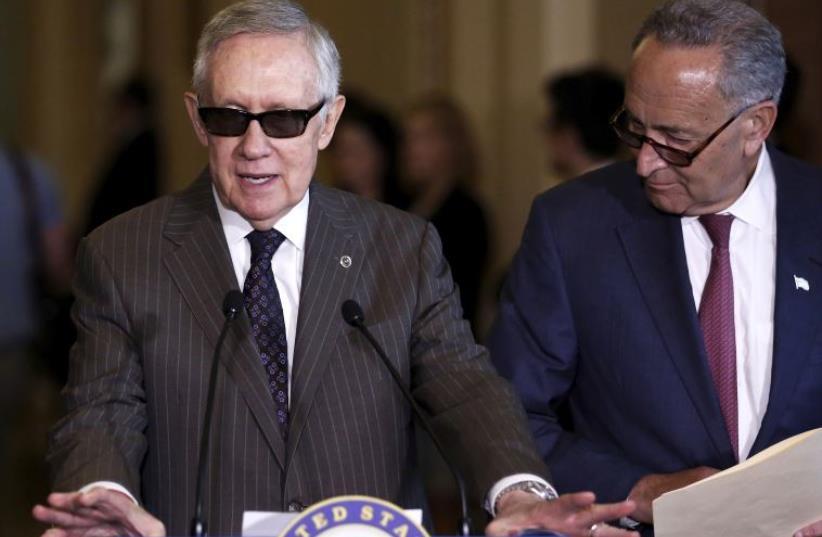 US Senate Minority Leader Harry Reid (photo credit: REUTERS)