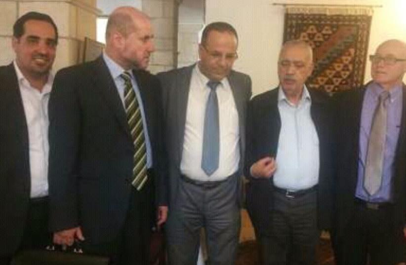 Arab and Israeli ministers meet (photo credit: YASSER OKBI/MAARIV HASHAVUA)