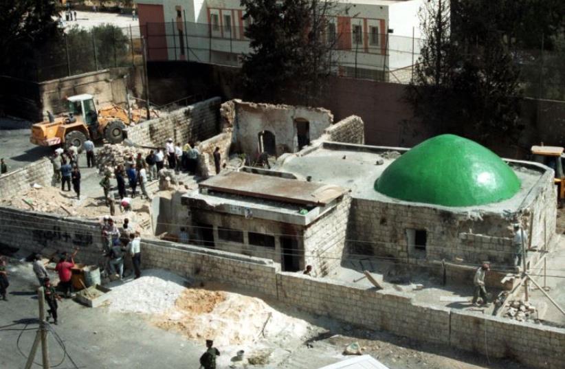 Tomb of Josef, Nablus (photo credit: REUTERS)