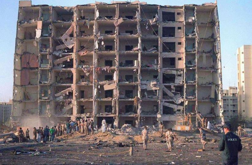 The Khobar Towers military complex in Saudi Arabia where a bombing killed 19 US servicemen in June 1996 (photo credit: REUTERS)