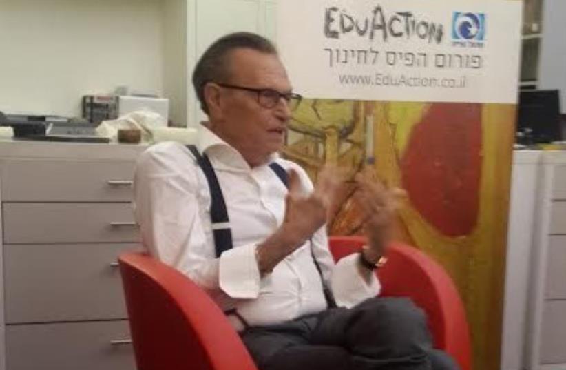 Larry King in Israel (photo credit: STEVE LINDE)