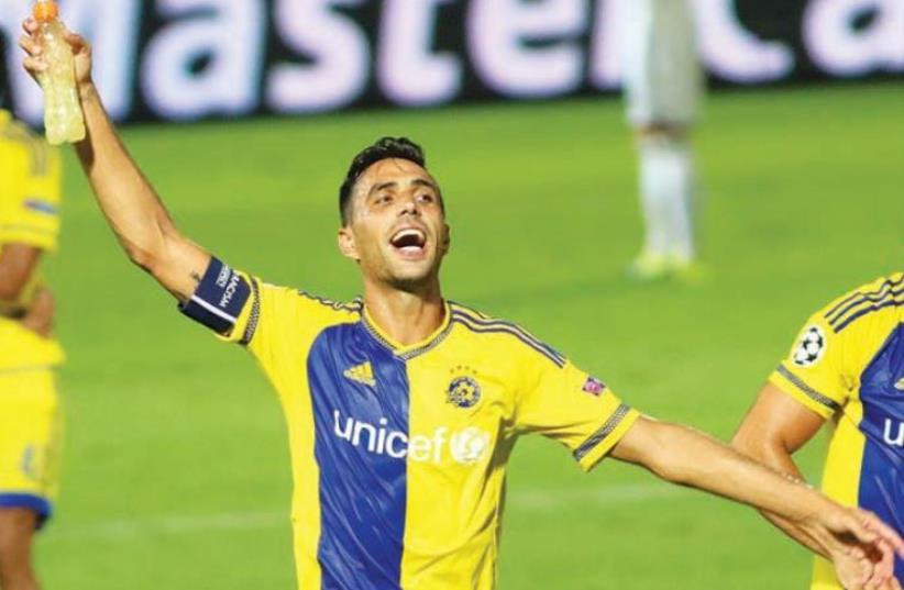 Maccabi Tel Aviv midfielder Eran Zahavi (photo credit: ADI AVISHAI)
