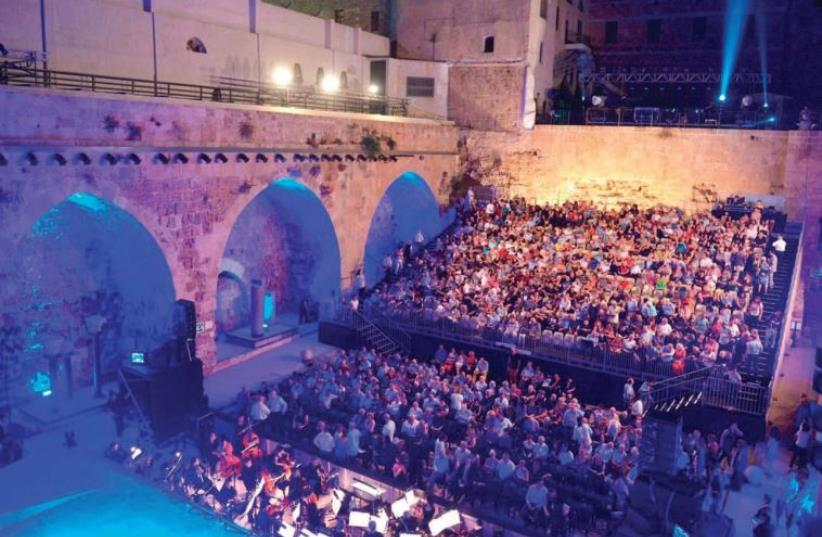 Opera night at Acre Fortress (photo credit: YOSSI ZWECKER)