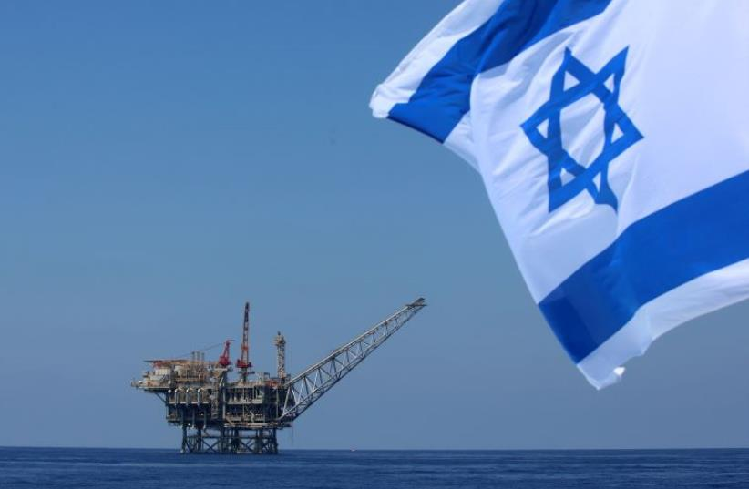 Israel Navy missile ship patrols near gas field‏ (photo credit: MARC ISRAEL SELLEM/THE JERUSALEM POST)