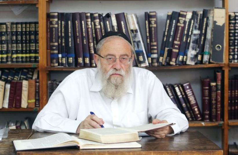 Jerusalem Chief Rabbi Aryeh Stern (photo credit: MARC ISRAEL SELLEM/THE JERUSALEM POST)