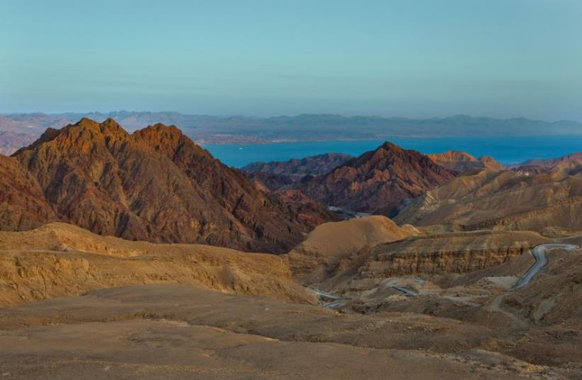 A view of the Eilat Mountains and the Red Sea (photo credit: MINISTRY OF TOURISM)