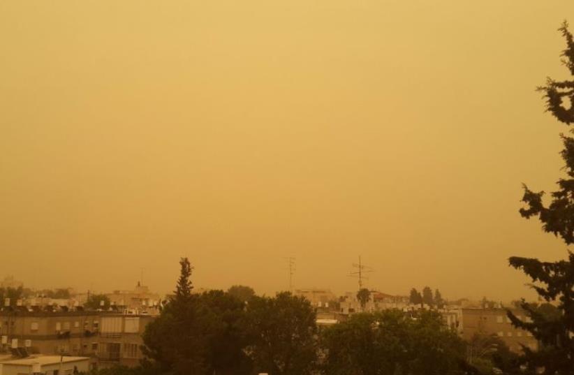 Kiryat Bialik, northern Israel, hazy conditions
