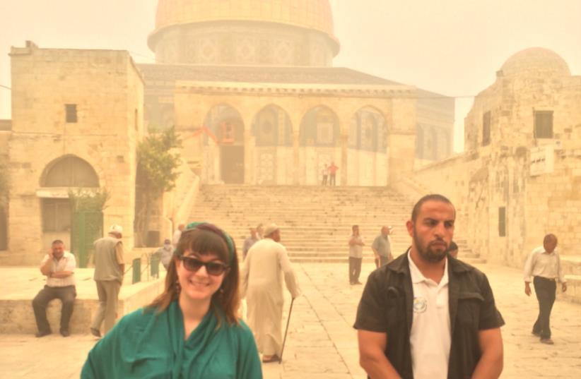 Lahav Harkov visits the Temple Mount  (photo credit: Courtesy)