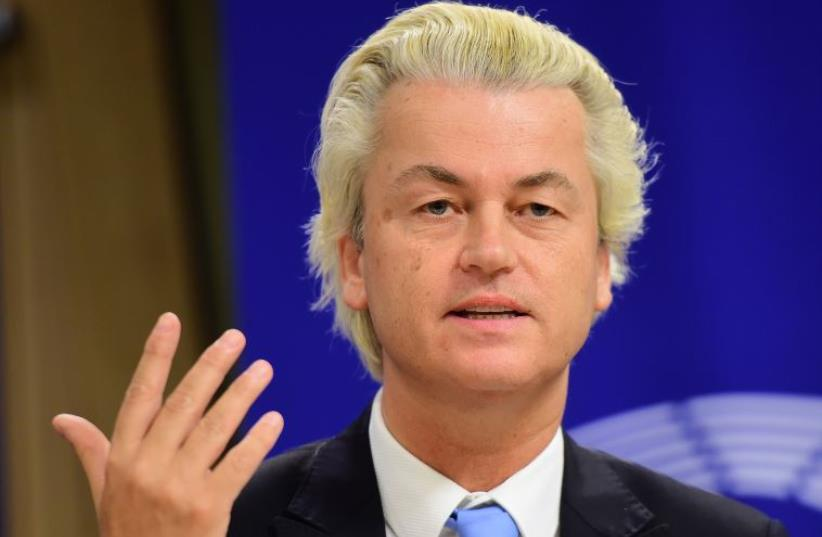 Geert Wilders (photo credit: EMMANUEL DUNAND / AFP)