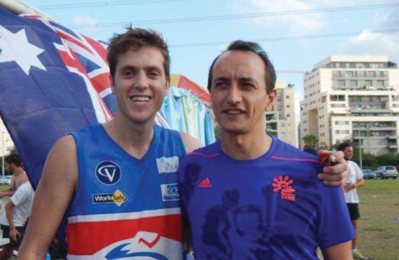 YONATAN BELIK (left) with Australian Ambassador Dave Sharma. (photo credit: AUSTRALIAN EMBASSY)