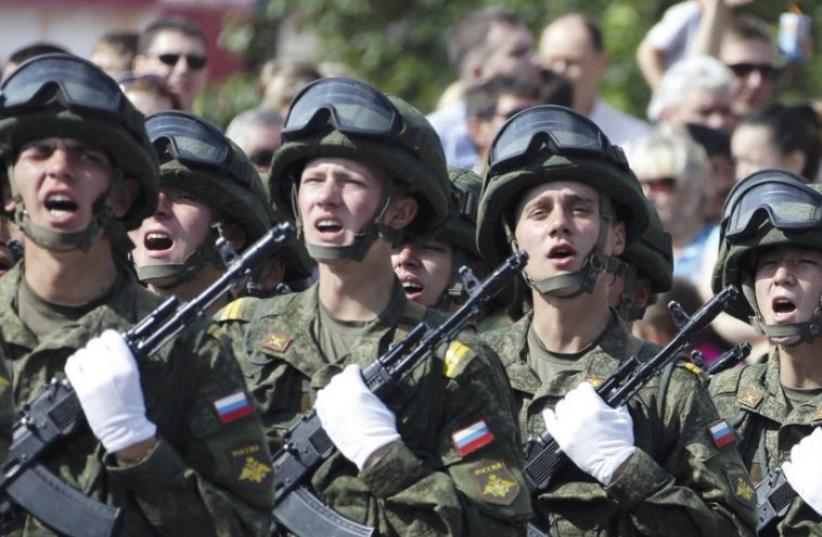 Russian troops (photo credit: REUTERS)