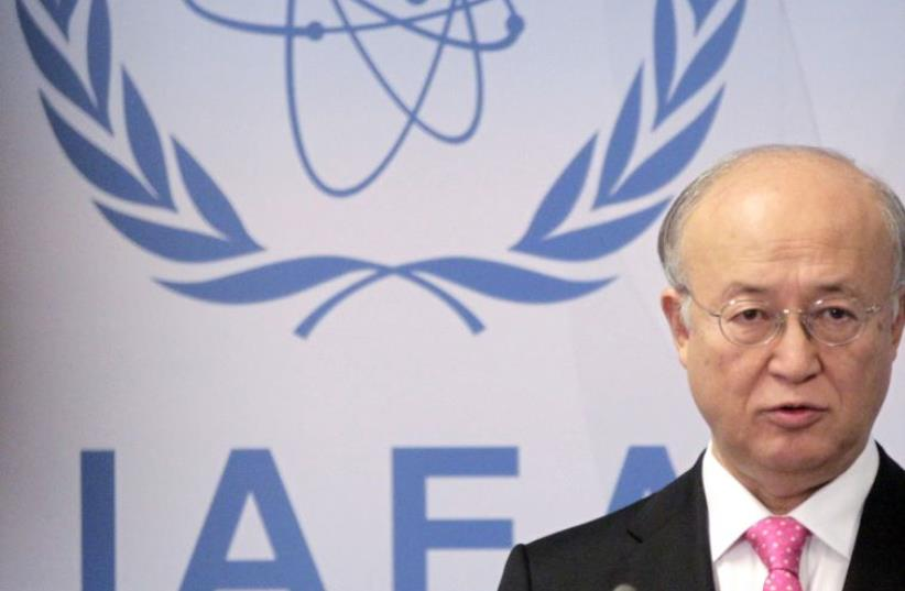 """International Atomic Energy Agency (IAEA) Yukiya Amano attends a board of governors meeting at the United Nations headquarters in Vienna March 5, 2012. The United Nations nuclear watchdog chief said there were indications of """"activities"""" taking place at an Iranian military site which his inspectors  (photo credit: REUTERS/HERWIG PRAMMER)"""