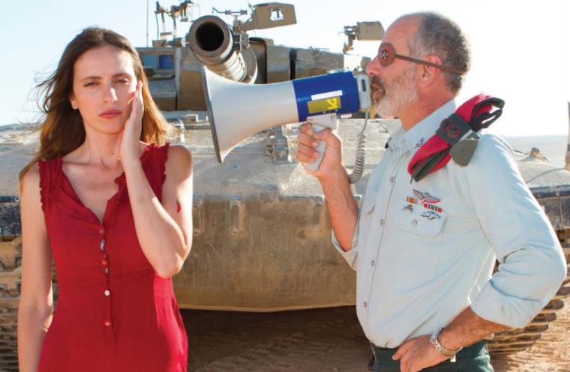 MALI LEVI-GERSHON (left) and Shai Avivi star in  Dror Shaul's 'Atomic Falafel'  (photo credit: MERAV MERUDI)