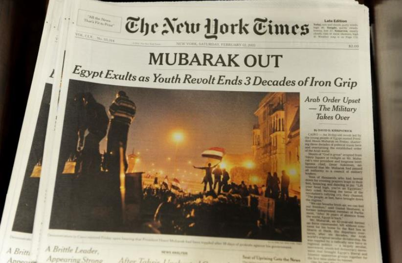 The New York Times (photo credit: AFP PHOTO)