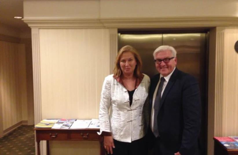 Livni and Steinmeier in Berlin, September 16 (photo credit: TZIPI LIVNI'S OFFICE)