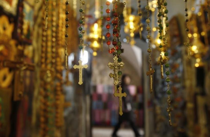 Crosses in Jerusalem (photo credit: REUTERS)