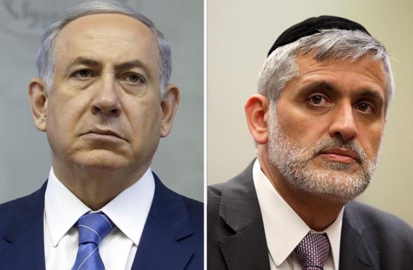 Netanyahu and Yishai (photo credit: REUTERS,MARC ISRAEL SELLEM/THE JERUSALEM POST)