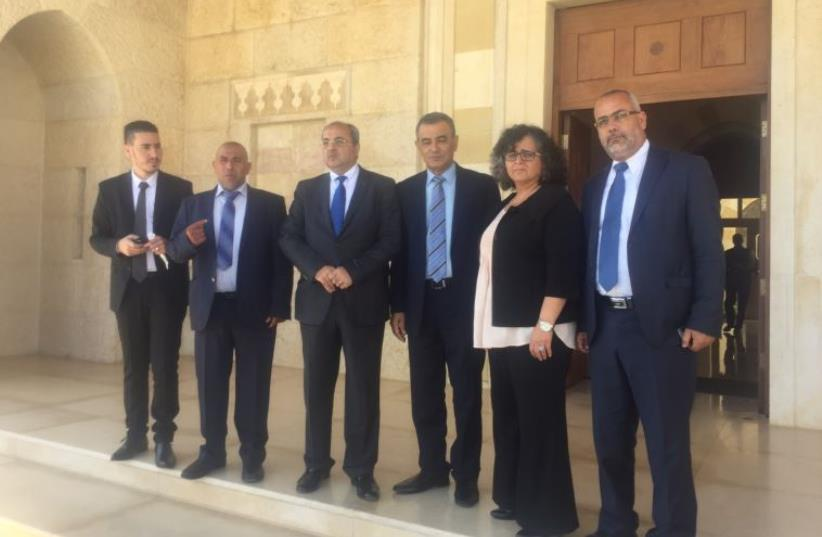 Joint List delegation in Jordan (photo credit: JOINT ARAB LIST)