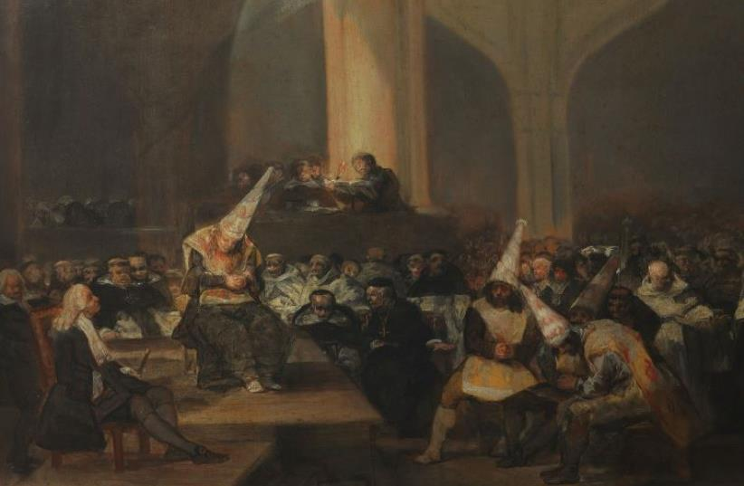 'The Inquisition Tribunal' as painted by Francisco de Goya (photo credit: Wikimedia Commons)