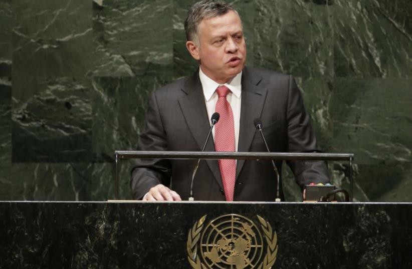Jordan's King Abdullah addresses UN General Assembly (photo credit: REUTERS)