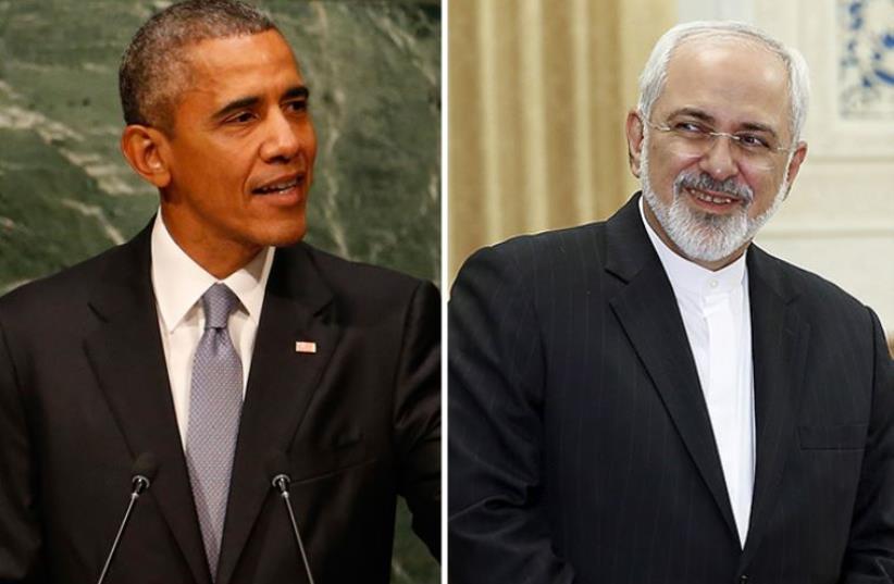 Obama and Zarif (photo credit: REUTERS)