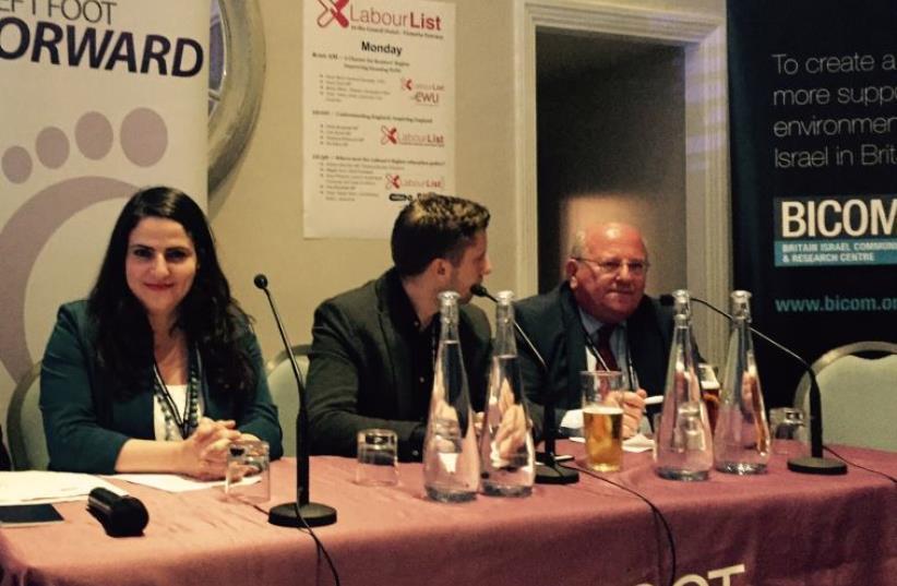 Labor MK Michal Biran at UK Labour Conferenc (photo credit: Courtesy)
