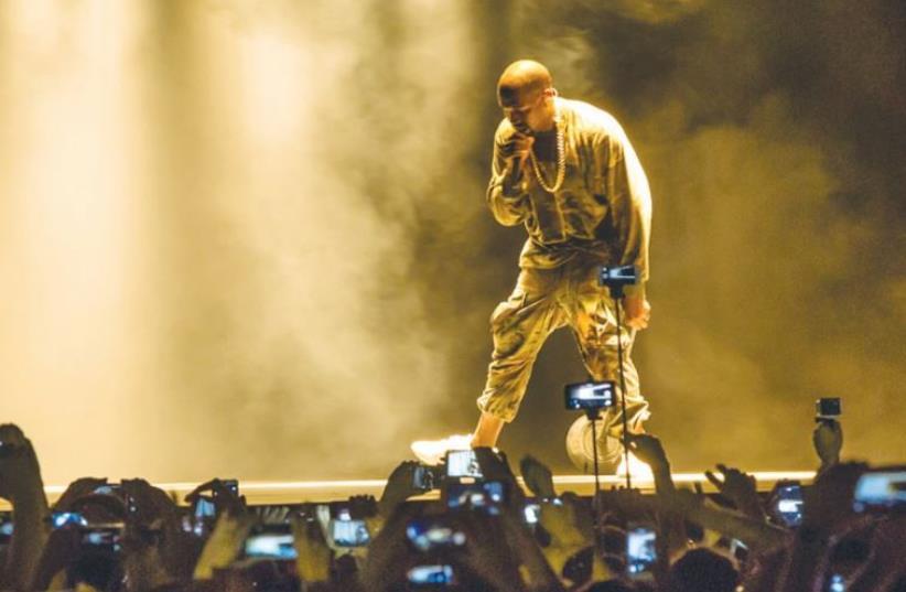 Kanye West performs at Ramat Gan Stadium (photo credit: YOSSI MAMIA)