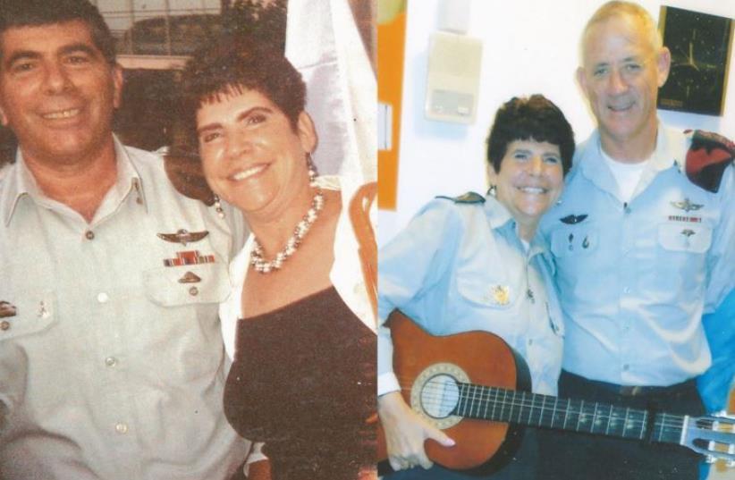 Ritasue Charlestein with former IDF general chief of staff's Gabi Ashkenazi (left) and Benny Gantz (photo credit: Courtesy)