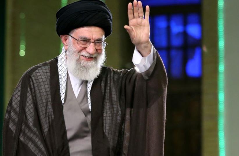 Iran's supreme leader Ayatollah Ali Khamenei (photo credit: KHAMENEI.IR / AFP)