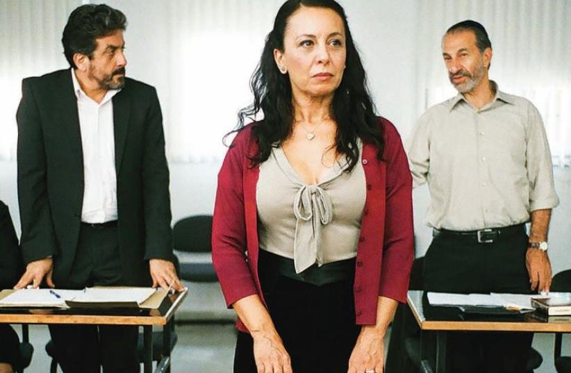 A scene from 'Gett: The Trial of Viviane Amsalem.' (photo credit: COURTESY MUSIC BOX FILMS)