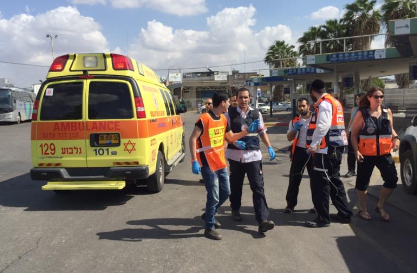 MDA at Afula terror incident (photo credit: MDA)